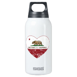 動揺してなカリフォルニア旗湖のイザベラのハート 断熱ウォーターボトル