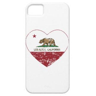 動揺してなカリフォルニア旗los ALTOハート iPhone 5 ケース