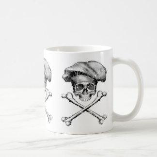 動揺してなシェフのスカル コーヒーマグカップ