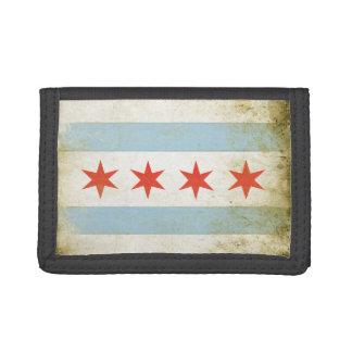 動揺してなシカゴの旗のプリントが付いている財布 ナイロン三つ折りウォレット
