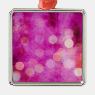 動揺してなショッキングピンクの赤紫の《写真》ぼけ味ライト メタルオーナメント