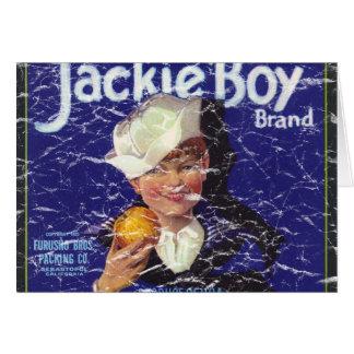 動揺してなジャッキーの男の子- カード