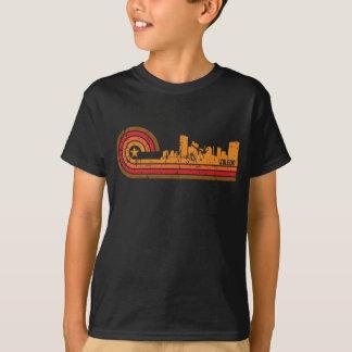 動揺してなスタイルのトレドレトロのオハイオ州のスカイライン Tシャツ