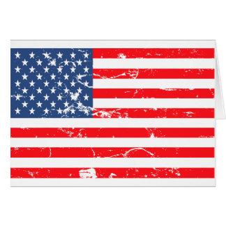 動揺してなスタイル米国の旗 カード