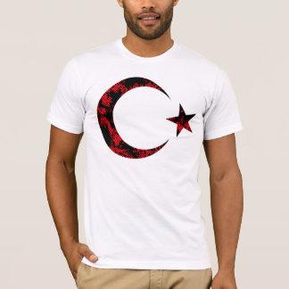 動揺してなトルコの旗Emblam Tシャツ