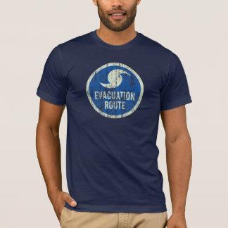 動揺してなハリケーンの避難のルートの印のTシャツ Tシャツ