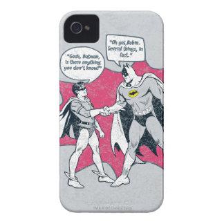 動揺してなバットマンおよびロビンの握手 Case-Mate iPhone 4 ケース