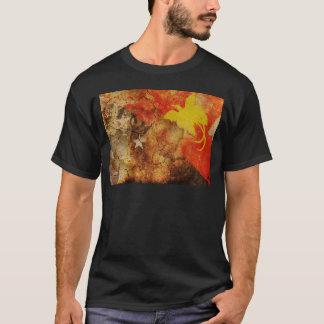 動揺してなパプアニューギニアの旗のTシャツ Tシャツ