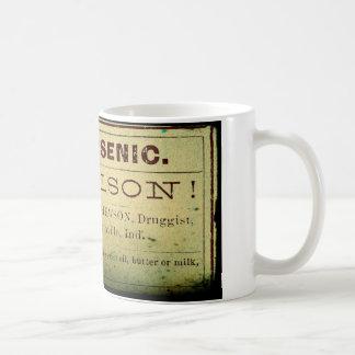 動揺してなヒ素のラベル コーヒーマグカップ
