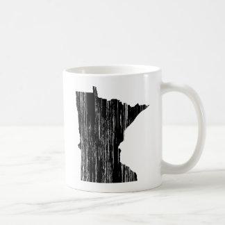 動揺してなミネソタの州の輪郭 コーヒーマグカップ
