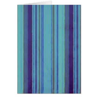 動揺してなレトロのストライプの紫色のアボカドの青 カード