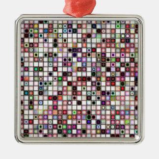 動揺してなレトロの宝石はモザイク・タイルパターンにある調子を与えます メタルオーナメント