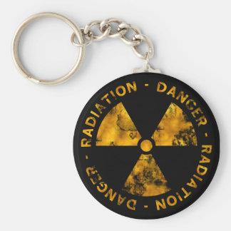 動揺してな放射の記号Keychain キーホルダー