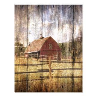 動揺してな木製の素朴な西欧諸国の赤の納屋 レターヘッド