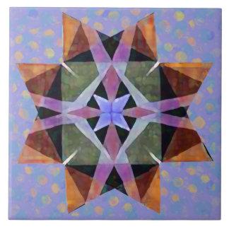 動揺してな水彩画のKaleidescopicのペルシャの星2 タイル