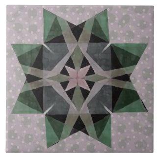 動揺してな水彩画のKaleidescopicのペルシャの星3 タイル