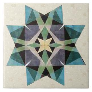 動揺してな水彩画のKaleidescopicのペルシャ人の星 タイル