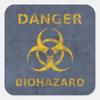 動揺してな生物学的災害[有害物質]の警告標識 スクエアシール