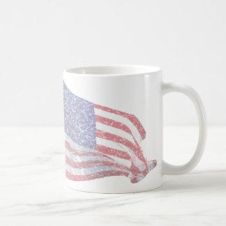 動揺してな米国の旗- コーヒーマグカップ