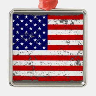 動揺してな米国旗のオーナメント メタルオーナメント