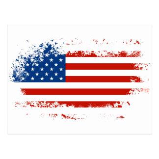 動揺してな米国旗 ポストカード
