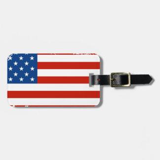 動揺してな米国旗 ラゲッジタグ