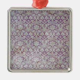 動揺してな紫色の壁紙パターン メタルオーナメント