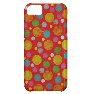 動揺してな色の水玉模様 iPhone5Cケース