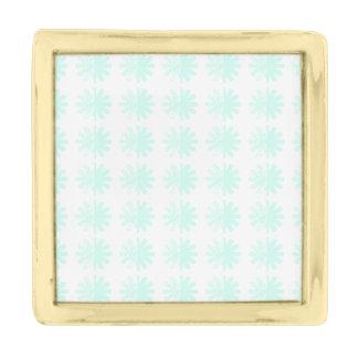 動揺してな花弁の雪片の現代的パターン 金色 ラペルピン