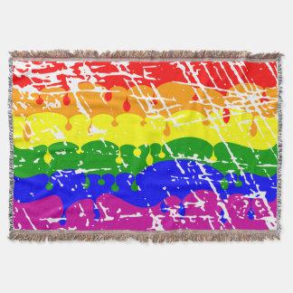 動揺してな虹の点滴注入のペンキ スローブランケット