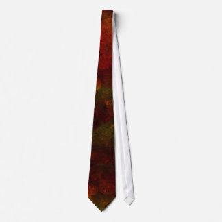 動揺してな調子のバーガンディの絞り染めのプリント オリジナルネクタイ