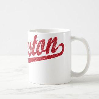 動揺してな赤のキングストンの原稿のロゴ コーヒーマグカップ