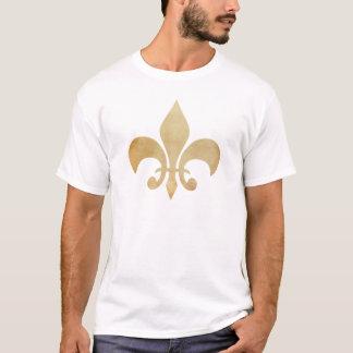 動揺してな金ゴールドの(紋章の)フラ・ダ・リの人のTシャツ Tシャツ