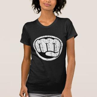 動揺してな長所の握りこぶし- Tシャツ