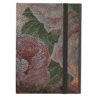 動揺してな革|ヴィンテージのビクトリアンなピンクのバラ iPad AIRケース