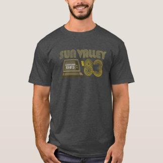 動揺してな1983年のヴィンテージのSun Valleyコンピュータ博覧会 Tシャツ