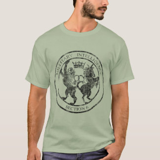 動揺してなMI-6秘密情報機関のロゴの黒 Tシャツ