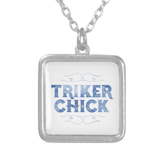動揺してなTrikerのひよこ シルバープレートネックレス