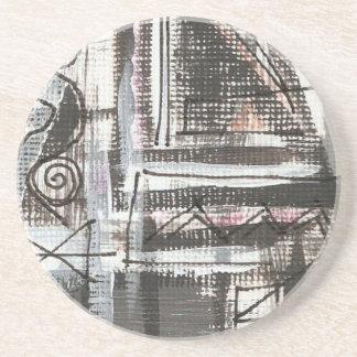 動揺して手によって絵を描かれる抽象的なブラシストローク コースター