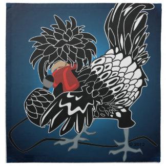動揺のポーランド語によって頂点に達される鶏 ナプキンクロス