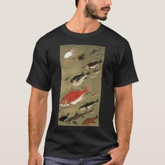 動植綵絵(28)の群魚図、伊藤若冲 Tシャツ