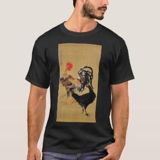 動植綵絵(7)の大鶏雌雄図、伊藤若冲 Tシャツ