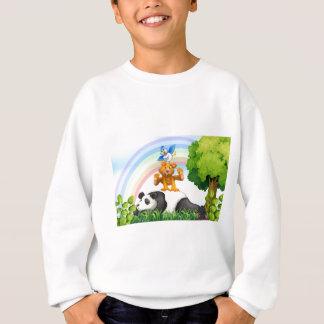 動物およびジャングル スウェットシャツ