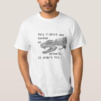 動物でテストされる Tシャツ