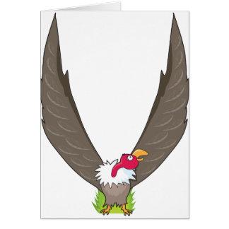 動物のアルファベットのハゲタカ カード