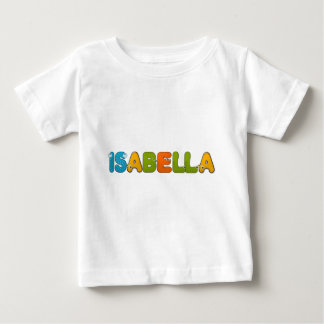 動物のアルファベットイザベラ ベビーTシャツ