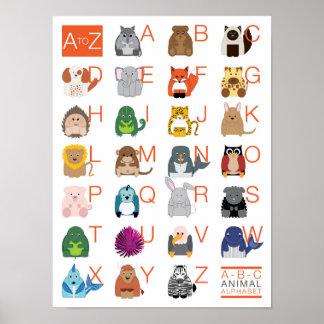 動物のアルファベット ポスター