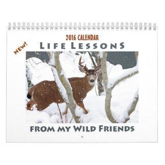 動物のカレンダー2016年-新しい生命レッスン カレンダー