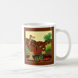 動物のサファリ コーヒーマグカップ