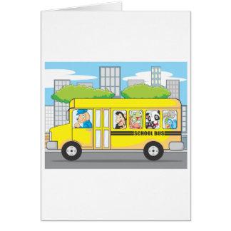 動物のスクールバス カード